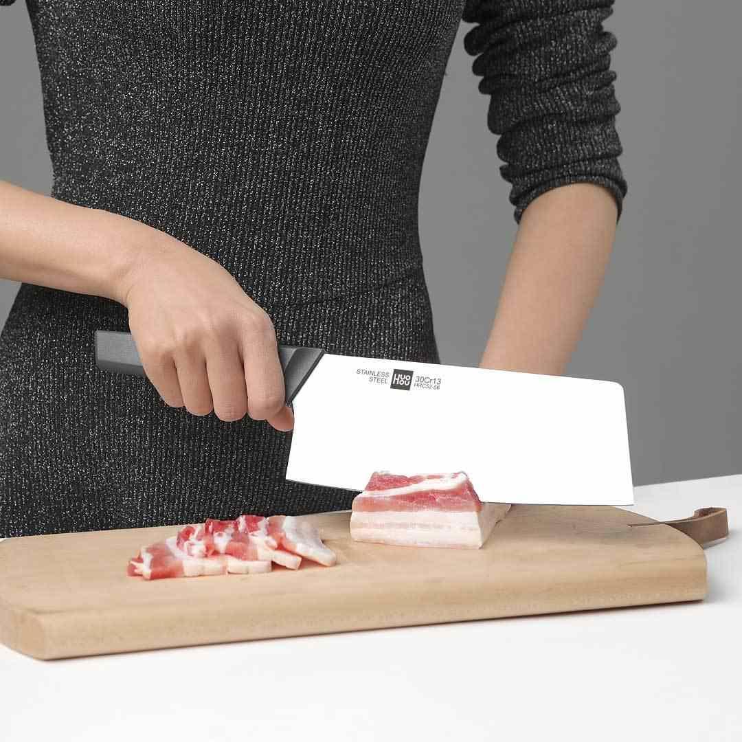 Xiaomi HuoHou Dính Dao Thép không gỉ Bộ Dao 6 Đầu Bếp Dao Nhà Bếp Có Kéo Khóa