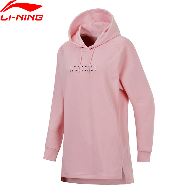 Li-Ning Women Sports Life PO Knit Hoodie Sweaters The Trend Fitness Comfort LiNing Li Ning Sports Sweater AWDN008 WWW962