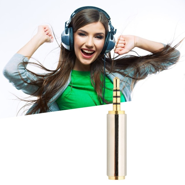 Gold 2.5mm Male to 3.5mm Female Stereo Audio Headphone Jack Adapter Converter Gold Plated Audio Adapter