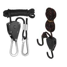 2 шт. уличный светильник для палатки, подъемный ремешок для кемпинга, походный шкив, веревка, вешалка, инструменты для палаток, EDC, оборудование для выживания