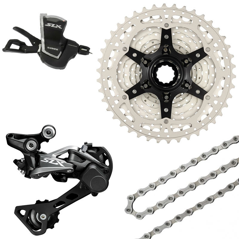 <font><b>SHIMANO</b></font> 2016 NEW <font><b>SLX</b></font> <font><b>M7000</b></font> 1x11 11S Speed Shifter+Rear Derailleur+Chain+ Sunrace CSMS8 11-46T Cassette <font><b>Groupset</b></font> Kit image