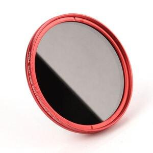 Image 5 - FOTGA 58 مللي متر ND مرشحات كاميرا سليم Fader ND(W) حلقة حمراء تصفية متغير قابل للتعديل ND2 ND8 إلى ND400