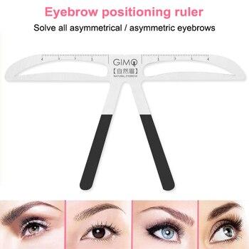 Eyebrow Stencil Caliper Makeup Reusable Measuring Shaper Tattoo Ruler Easy Tool Women Eyes Makeup Tool Eyebrow Stencil