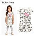 Eaboutique 2017 nuevas muchachas visten el vestido de estilo casual de alta moda lindo gatito dot impreso ropa gatito