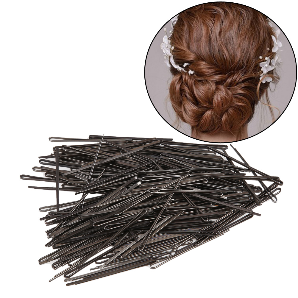 235PCS Women Black Invisible Hair Pins Clips Hair Clips U-shaped Hairpin Barrette Hair Pin Salon Hairdressing Hair Styling Tools