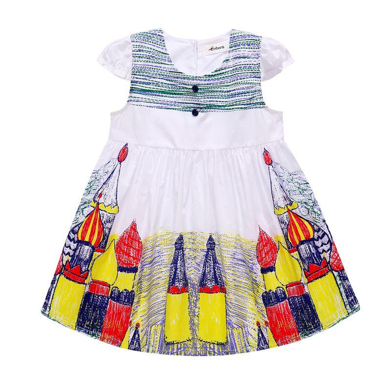 Toddler Kid Baby Girl Dress Clothes Striped Floral Dinosaur Bling Printed Casual Toddler Summer Girl Kids Dress Vestido Infantil Special Summer Sale Girls' Clothing Mother & Kids