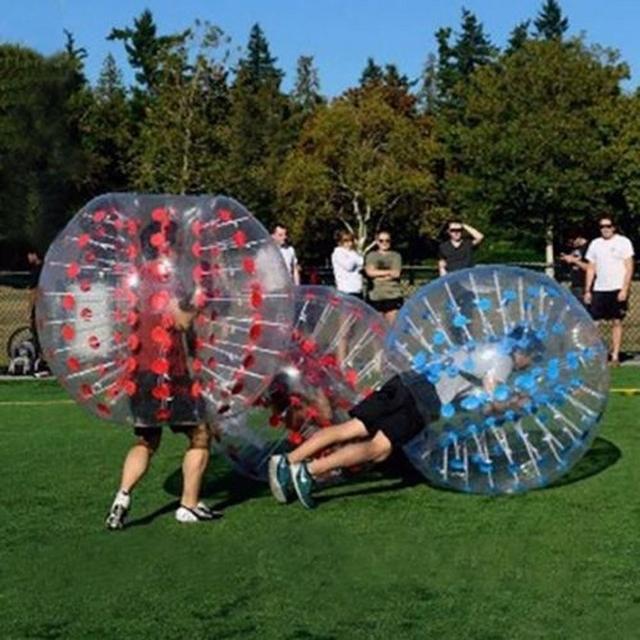 1.5 M Goma Parachoques Fútbol Cuerpo Inflable Bola Del Zorb PVC Balón de Fútbol Burbuja Humana Al Aire Libre Juguetes de Los Deportes