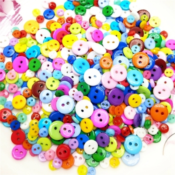 50-100PCS Mixed size Decorative Buttons Lovely Conveyance Double Holes Mix Sewing Wooden Plastic Buttons Flatblck Scrapbooking image