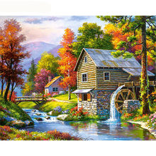 GATYZTORY Frame Fairyland DIY Painting By Numbers Modern Wall Art Canvas Painting Picture By Numbers Landscape For Home Decors(China)