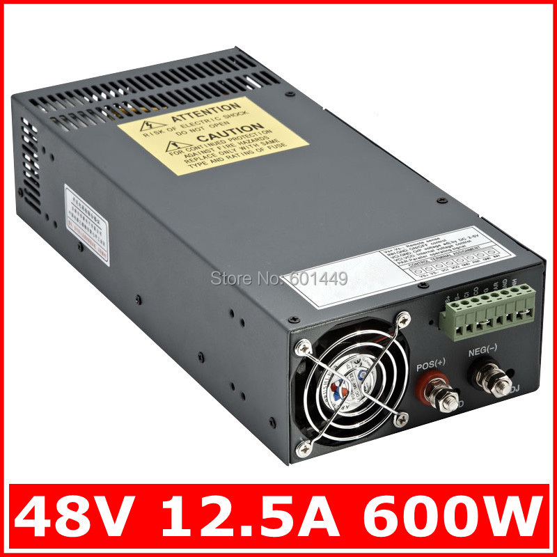 Electrical Equipment & Supplies> Power Supplies> Switching Power Supply> S single output series>SCN-600W-48V 48v 20a switching power supply scn 1000w 110 220vac scn single output input for cnc cctv led light scn 1000w 48v