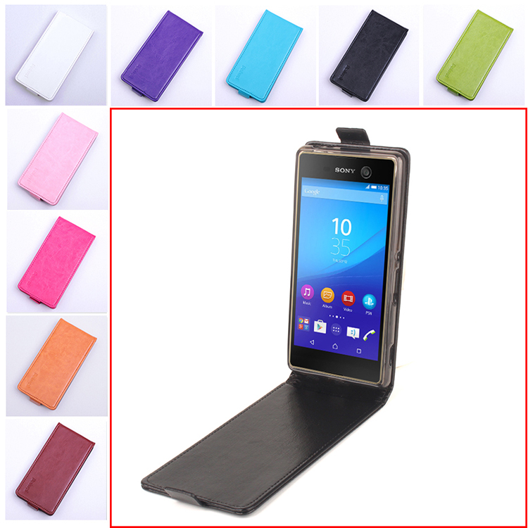 for Sony Xperia M5 Fashion 9 Colors Flip Leather Cover Case for Sony Xperia M5 E5603 / M5 Dual E5633 Vertical Back Cover