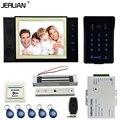 JERUAN 8 дюймов TFT видео домофона Запись домофон комплект новый RFID водонепроницаемый Сенсорная Клавиша пароль клавиатуры Камеры 8 Г SD карты