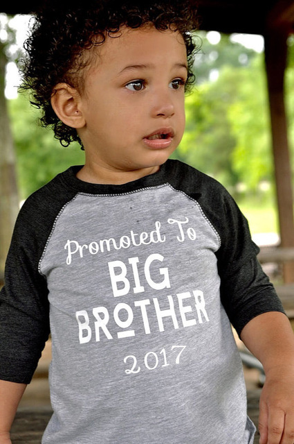 0d6550b717 2017 Funny BIG BROTHER Letter Printed Tiny cottons Gray Baby Boy Clothes  Long Sleeve t shirts kids children tees Shirt for boy