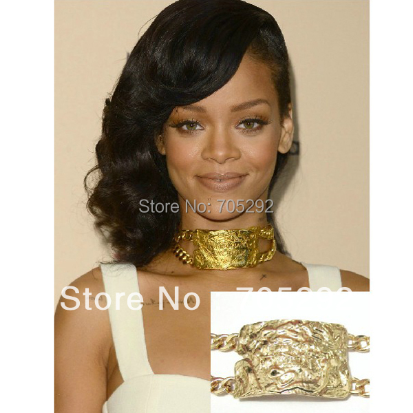 Hot selling rihanna kim kcelebrity jewelry chunky huge id pendants hot selling rihanna kim kcelebrity jewelry chunky huge id pendants with doule metal link chain necklace in choker necklaces from jewelry accessories on aloadofball Image collections