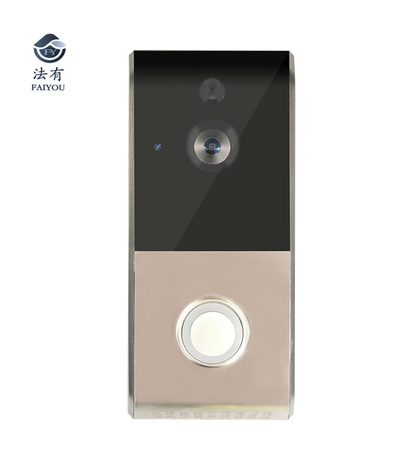 Hot Wireless WIFI Doorbell Video Door Bell Phone Security Surveillance Door Camera Monitor Viewer Support IOS Android Ipad цена