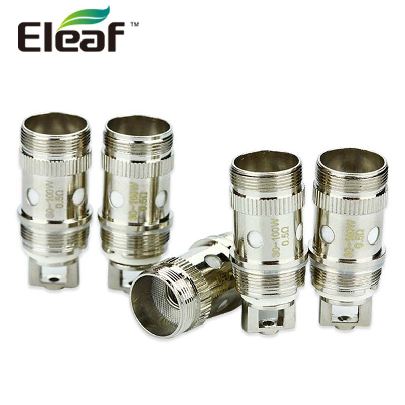 цена на 25pcs Original Eleaf EC Coil 0.3ohm & 0.5ohm iJust 2/Melo/Melo 2/Melo 3/Melo 3 Mini/Lemo 3 Atomizer Head 25pieces/lot