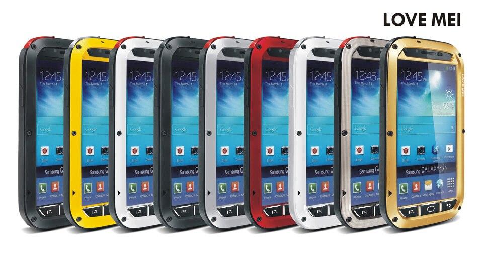 bilder für S4 LIEBE MEI Extreme Wasserdicht Staubdicht Stoßfest Gorilla Glass Aluminum Abdeckung Fall für Samsung Galaxy S4 S IV i9500