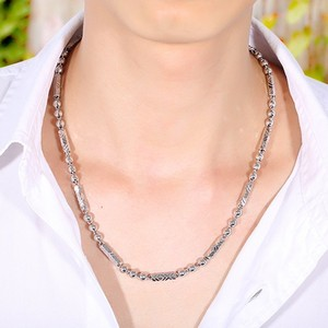 Image 5 - ZABRA 925 Silver 4mm 46/51cm Vintage Long Round Sexangle Mens Chain Necklace Steampunk Retro Fashion Men Sterling Jewelry