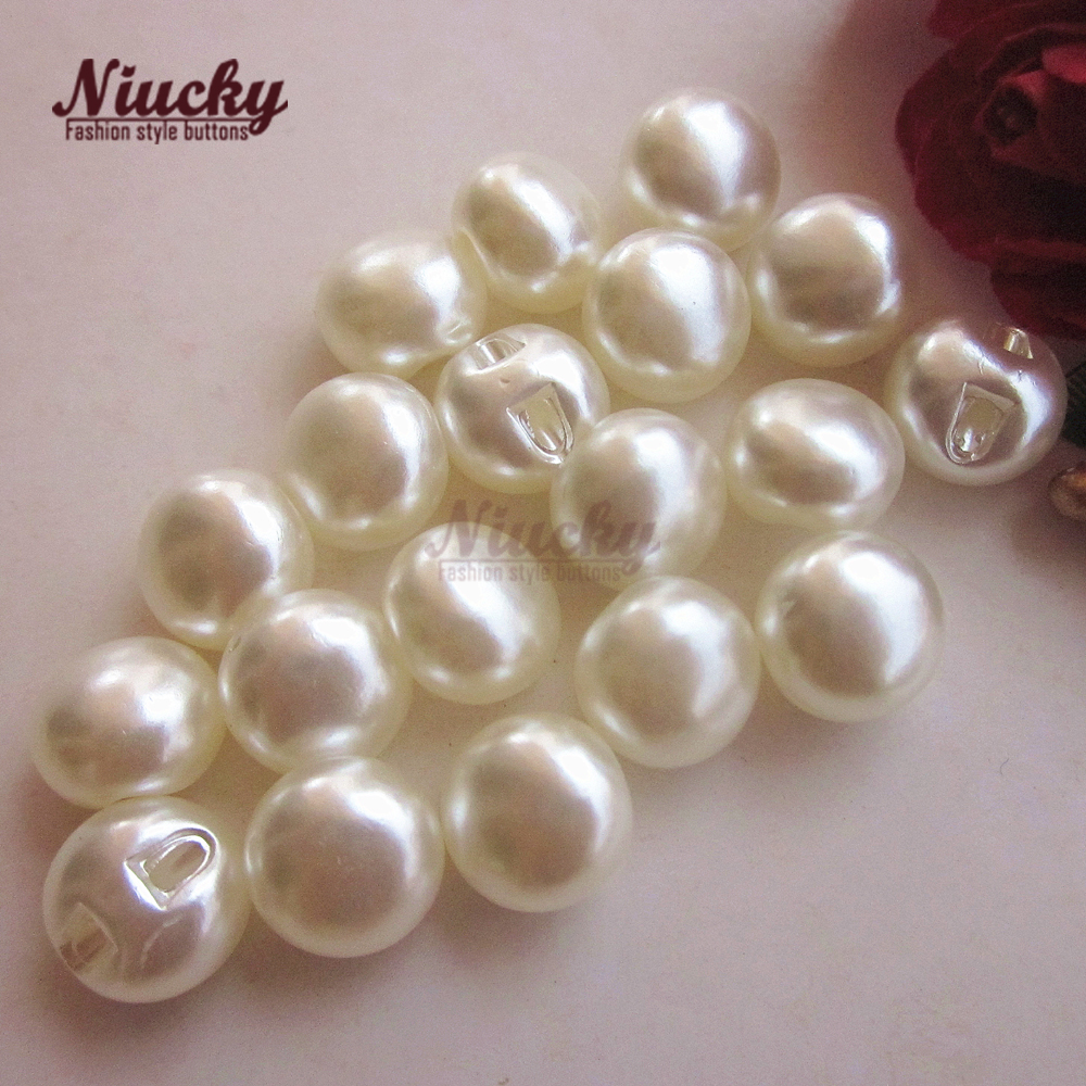 Niucky 10mm/ 11mm Eco-friendly Imitation pearl buttons for clothing craft wedding dress sewing decorative accessories P0301-023