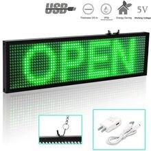 Светодиодная вывеска p5 wifi зеленая подсветка / usb