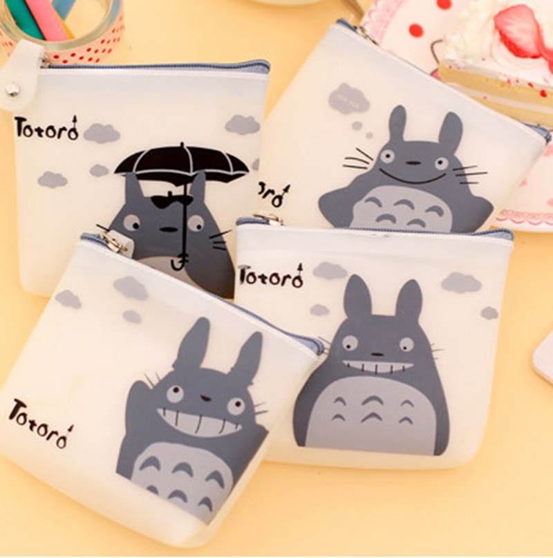 Cute Women Silicone Cartoon Totoro Coin Purse Wallet Pouch Case Bag Kids Bags Pouch Case Holder Bag 4 Types girl women stylish cute silicone coin purse wallet