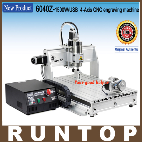 1500W 4 Axis CNC Engraver Engraving  Machine CNC 6040 with USB Port 1500w 4 axis cnc engraver engraving machine cnc 6040 with usb port