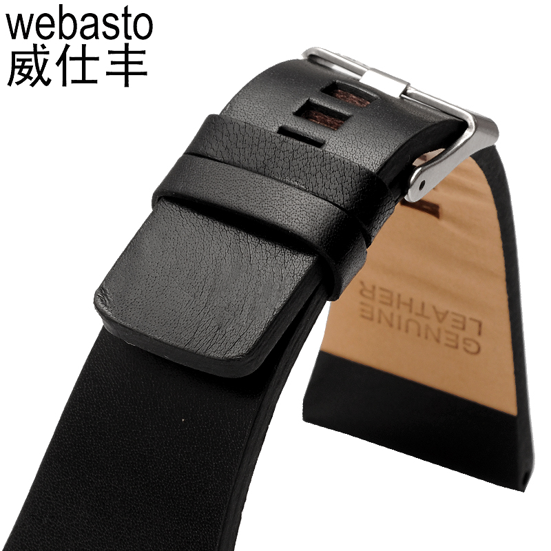 Webasto Men Watch Band For Diesel Cow Leather Straps Width 26 28 30 32 34mm Buckle Watch Strap Watchbands Free Shipping durable 20 24 26 27 28 mm soft watch bands for diesel watch dz7313 dz7322 dz7257 women s men s watch straps with sliver buckle