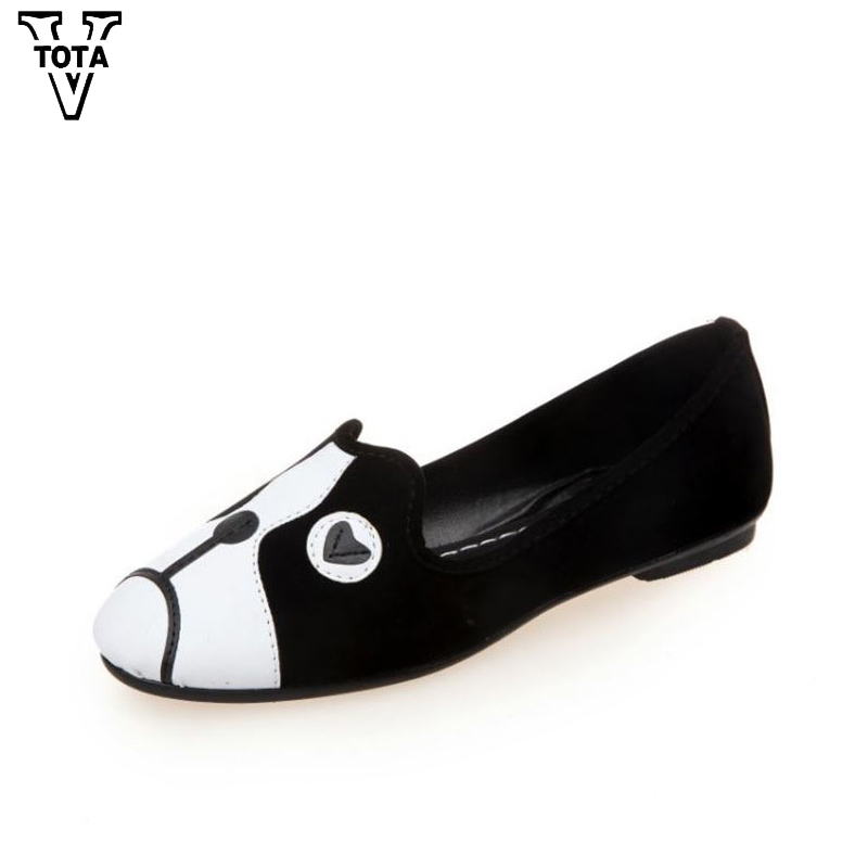 VTOTA Spring Autumn Shoes Woman Cartoon Animation Zapatos Mujer Slip On Women Shoes Comfortable Women's Flat Shoes Moccasins XY akexiya spring fashion women shoes pointed toe slip on flat shoes woman comfortable single casual flats size 35 39 zapatos mujer