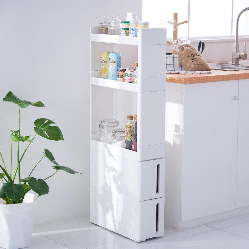 Home küche bad wohnzimmer schublade racks schlitz 17 cm breit schrank weiß ZP01161905 - 2