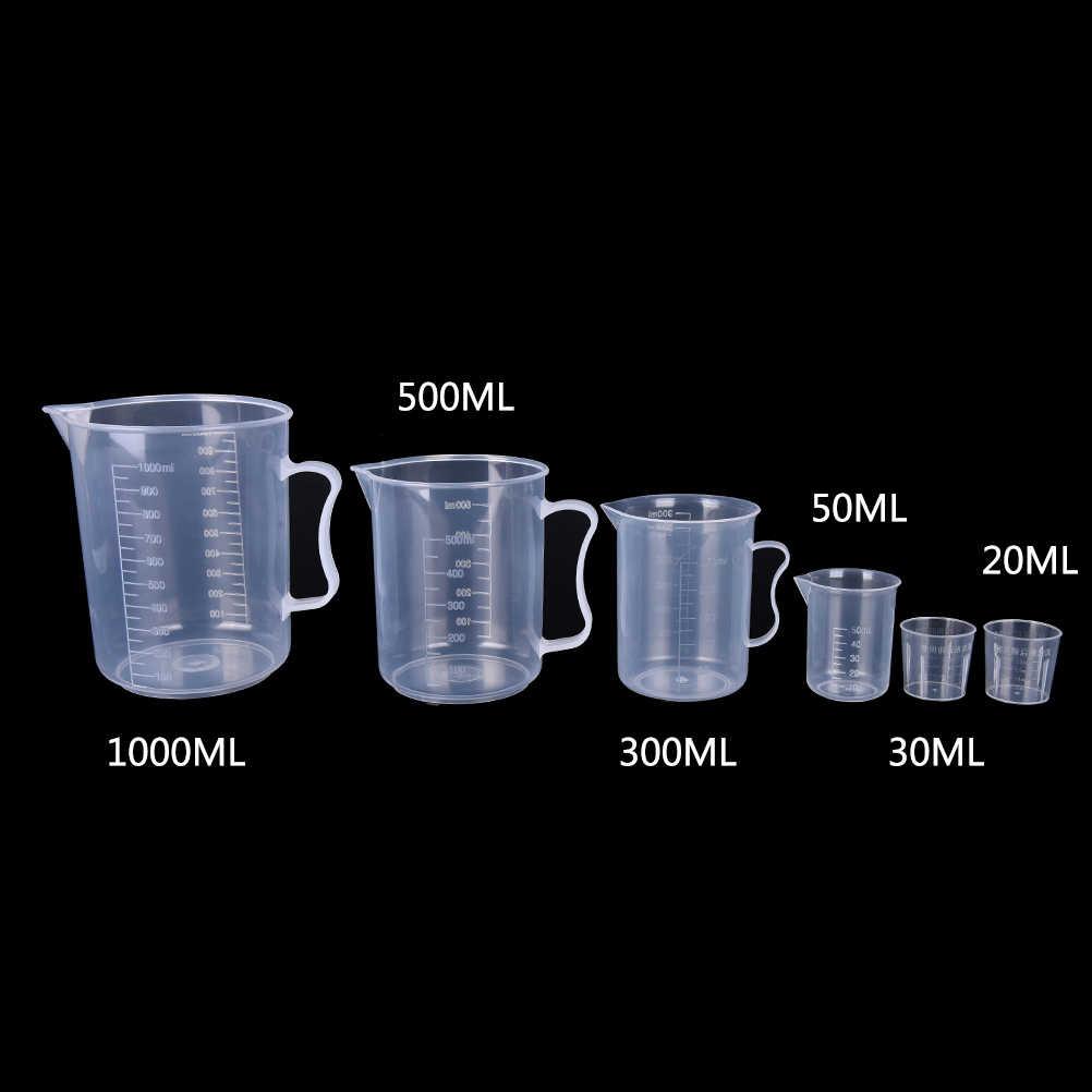 Nouveau 20/30/50/300/500/1000 ML PP flacon en plastique numérique tasse à mesurer cylindre échelle mesure verre laboratoire outils de laboratoire