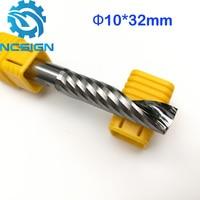 1pc AAA HQ 10 32MM Single Long Flute Bit Carbide End Mill Set CNC Router End