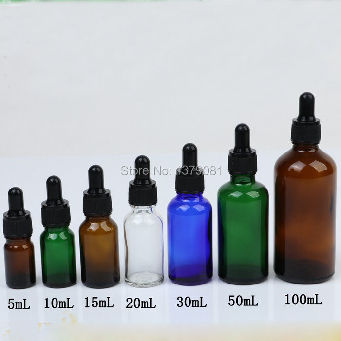 5ml,10ml,15ml,20ml,30ml,50ml,100ml Clear Mini Glass Bottles with Dropper Black Rubber DIY Sample Vial Essential Oil Bottle 5ml 10ml 15ml 20ml 30ml 50ml 100ml diy black glass empty essential oil bottle high grade glass empty liquid dropper bottle