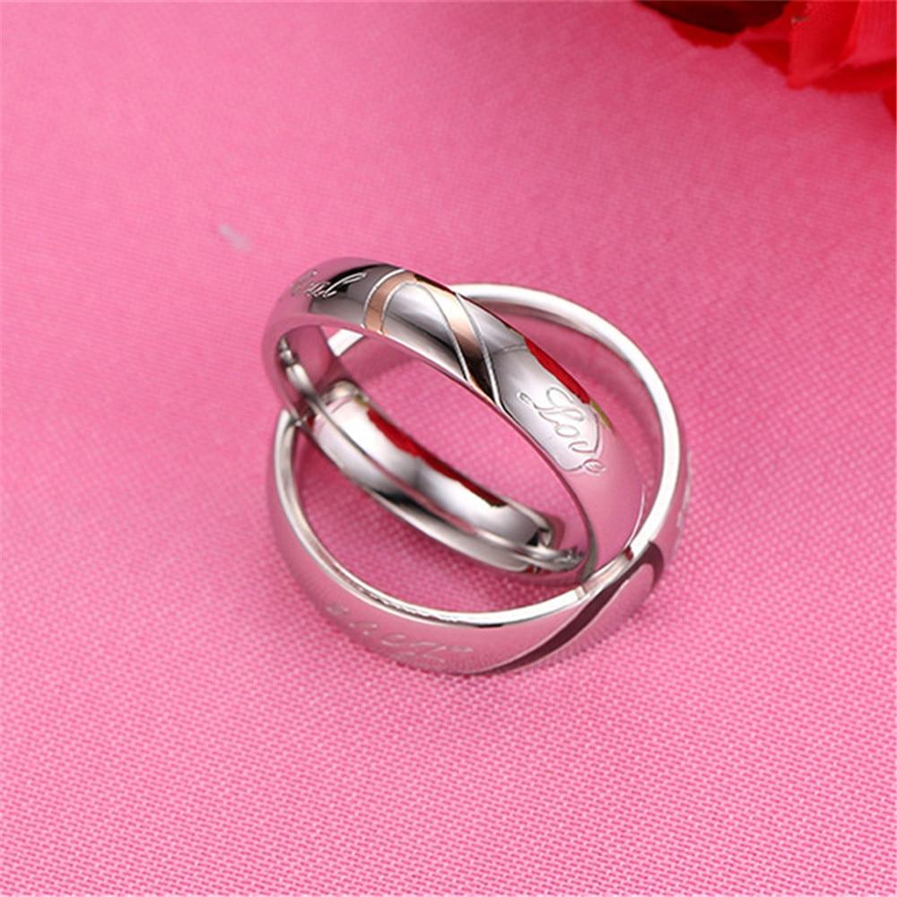 GAGAFEEL Lovers Rings Men Women Stainless Steel Rings Finger ...