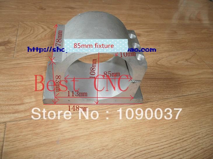 ingyenes szállítás 85 mm-es orsótokmány Orsó motor-rögzítő Orsó-tokmány CNC-útválasztó orsótartókhoz 85mm