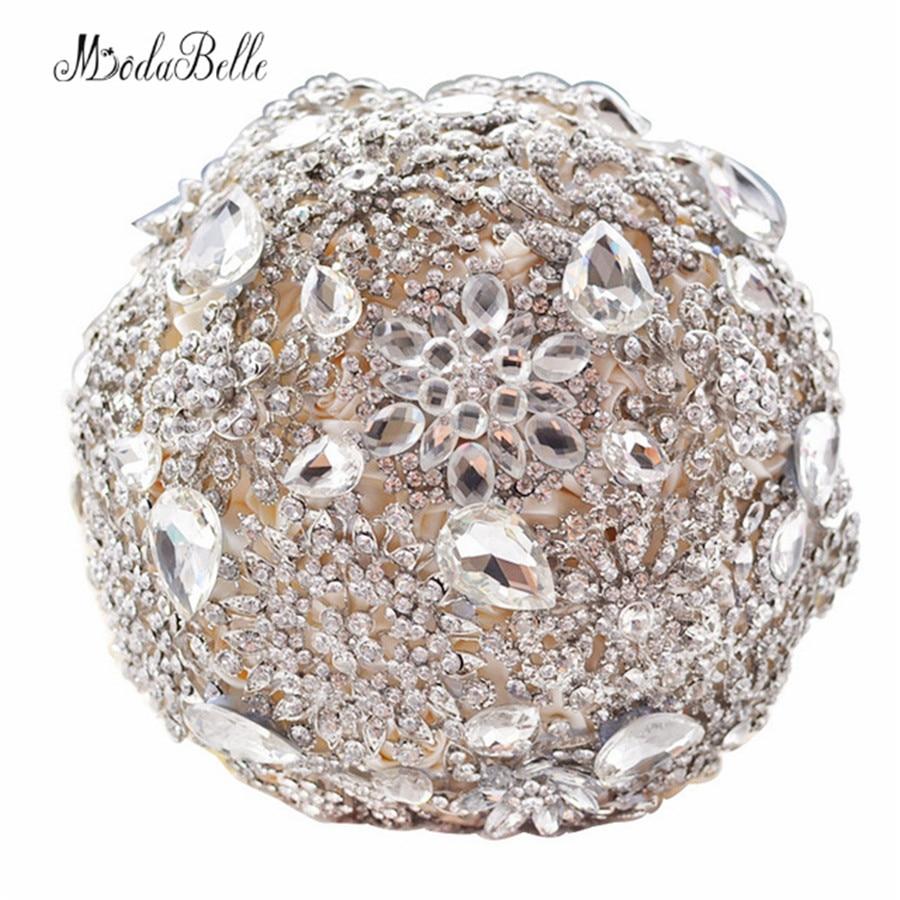 Luksus Diamond Bridal Bouquets Kunstlik lillega pulmakimbud Pulmakleidid pruutide jaoks Pulmad pruutide jaoks Buque de Noiva de Perola