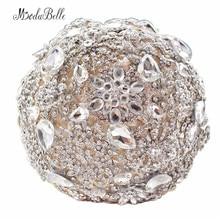 Luxury Diamond Bridal Bouquets Artificial Flower Beaded Wedding Bouquets Use for Bride Wedinng Photos Buque de Noiva de Perola
