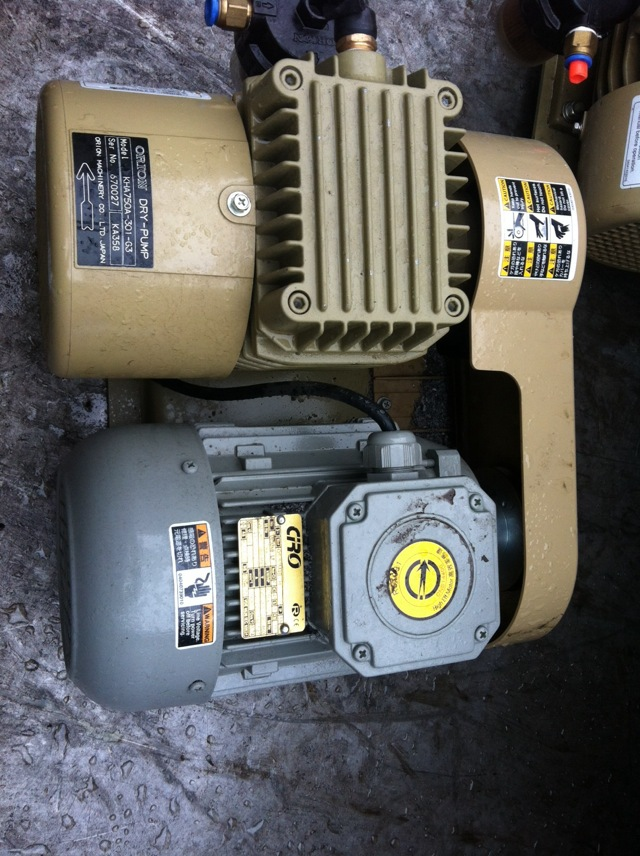 Japan imported machine dedicated KHA Orion 750A-301-03 rotary vane vacuum pump oil tw 4a single stage 4 l rotary vane type portable vacuum pump with a single stage