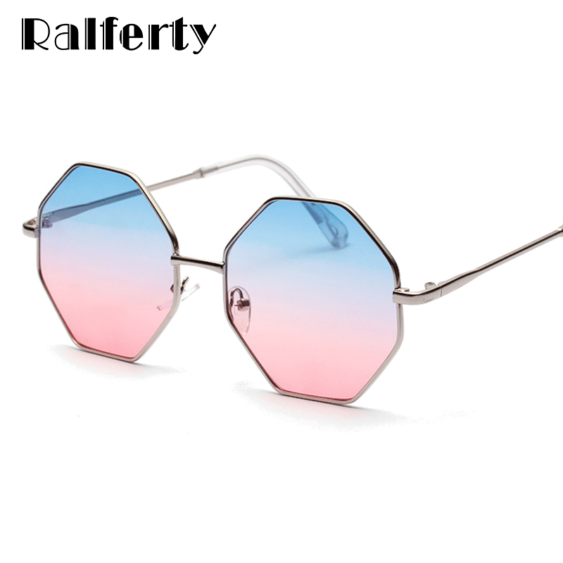 Ralferty 2018 Trendy Hexagon Sunglasses Women Colorful Gradient Sun Glasses  UV400 Eyewear Retro Irregular Octagon Sunglases W047-in Sunglasses from  Apparel ... 4bd9b4c467