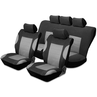 TIROL T24917 Universal Concise Comfortable 100 Percent Washable Car Seat Covers Set Suitable For Most Cars Trucks Vans And SUV