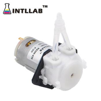 INTLLAB 12V DC DIY perystaltyczna pompa cieczy dozująca pompa do akwarium laboratorium analityczne tanie i dobre opinie pompa zębata Diesel Elektryczne Niskiego ciśnienia Standardowy WODA Small Dosing Pump