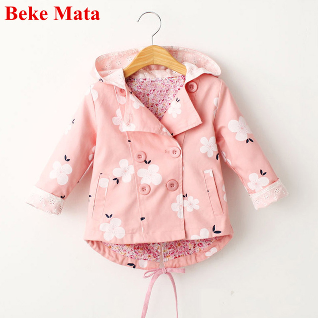 9973bf552 BEKE MATA Kids Jackets For Girls Spring 2017 Toddler Girl Outerwear Cotton  Windbreaker Jacket Kids Jacket Coat Children Jackets