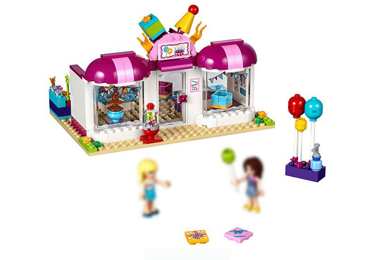 Legoing Heart Lake City party gift shop 41132 181 Building Blcok set Brick compatible 10557 Toys for children Gift