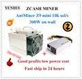 Auf lager Verwendet ZCASH Miner Antminer Z9 Mini 10k Sol/s 300W Mit Bitmain APW3 1600W NETZTEIL Gute Gewinn besser als A9 S9 zu 14k Sol/s