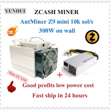 PSU Miner Good-Profit Bitmain S9 ZCASH Used Mini with APW3 1600W Better Than A9 To 14k