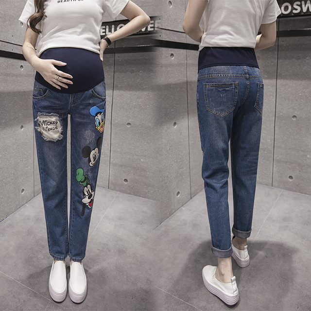 6af7f901692 Maternity Clothing Jeans Pants For Pregnant Women Clothes Nursing Trousers  Pregnancy Overalls Denim Long Prop Belly Legging New-in Jeans from Mother    Kids ...
