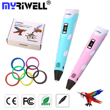 Myriwell 3D Pen DIY 3D Printer Pen Drawing Pens 3d Printing Best for Kids with ABS 100m Filament 1.75mm Christmas Birthday gift
