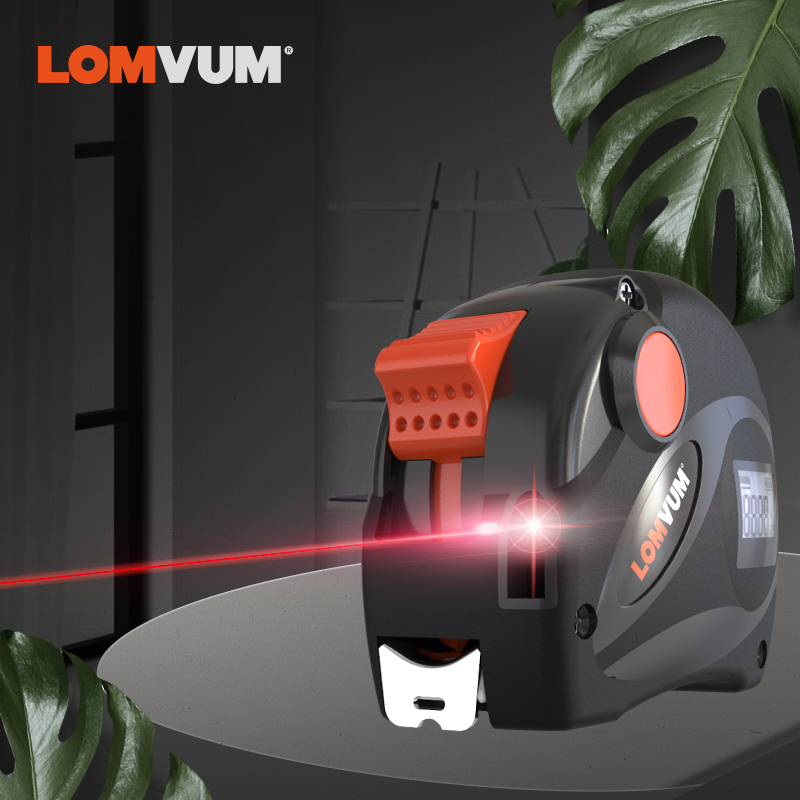 LOMVUM Rechargeable Laser Tape Measure 2 in 1 USB Charging Tape with LCD Display 16FT/5M Digital Tape Metric/Inches/Ft LOMVUM Rechargeable Laser Tape Measure 2 in 1 USB Charging Tape with LCD Display 16FT/5M Digital Tape Metric/Inches/Ft