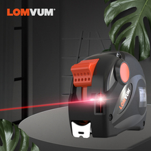 LOMVUM Rechargeable Laser Tape Measure 2 in 1 USB Charging with LCD Display 16FT/5M Digital Metric/Inches/Ft
