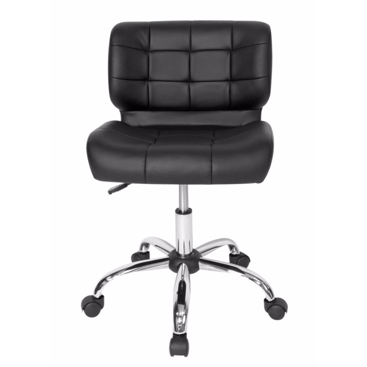 Offex Home Office Black Crest Office Chair - Chrome/Black