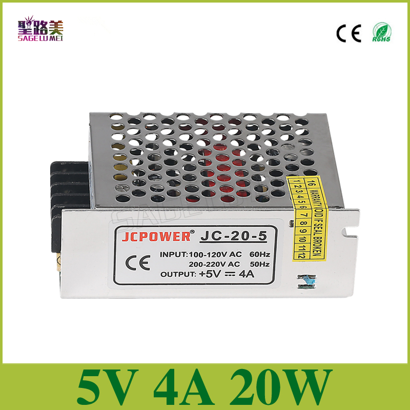 free shipping 5V 4A 20W Switching Power Supply for DC5V WS2811 WS2812B ws2801 led strip light DC5V Driver led powerfree shipping 5V 4A 20W Switching Power Supply for DC5V WS2811 WS2812B ws2801 led strip light DC5V Driver led power